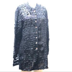 CHICO'S / Silk Textured Tunic / SZ 2